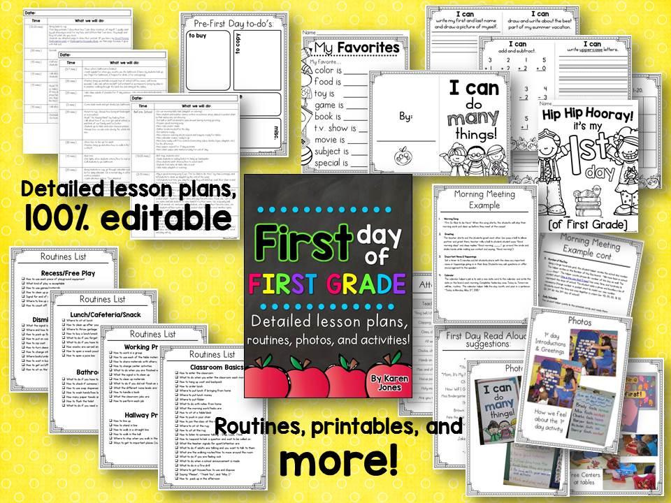 first grade, first day of first grade