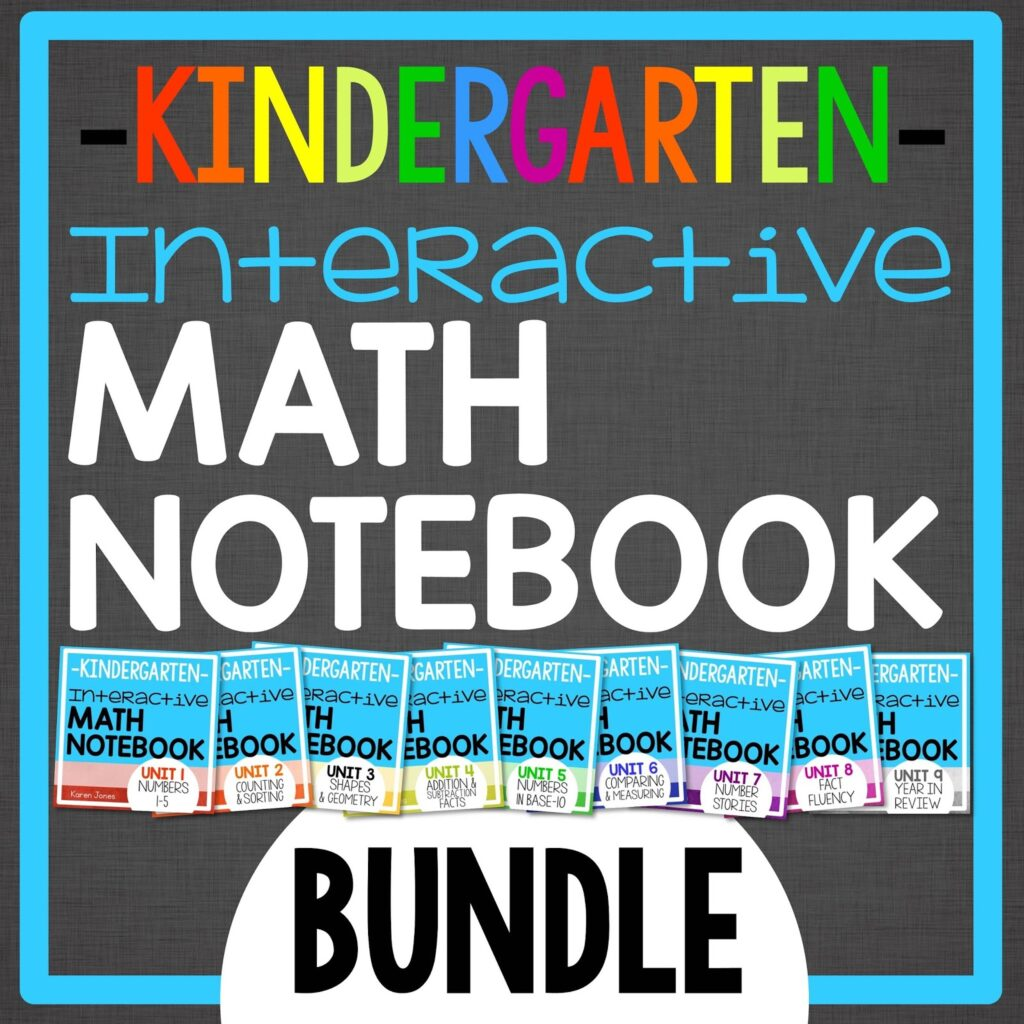 kindergarten interactive math notebook