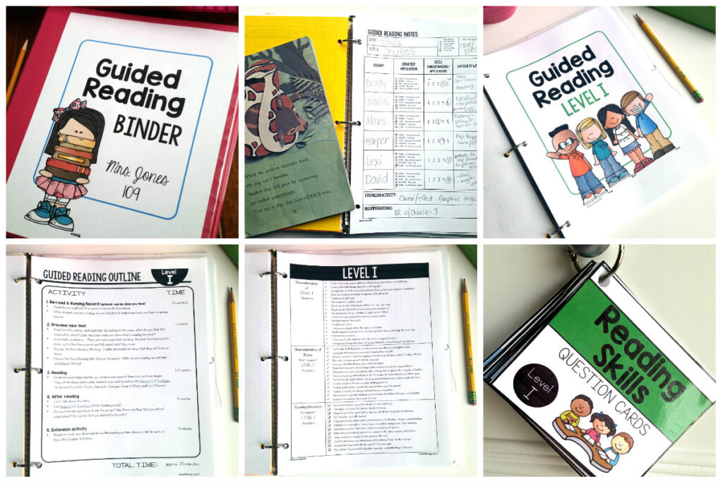 guided reading teacher binder