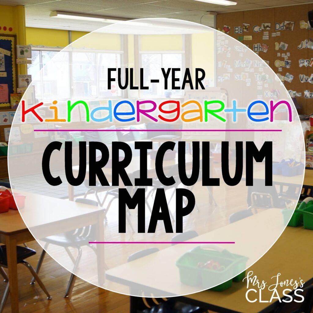 long range planner for kindergarten
