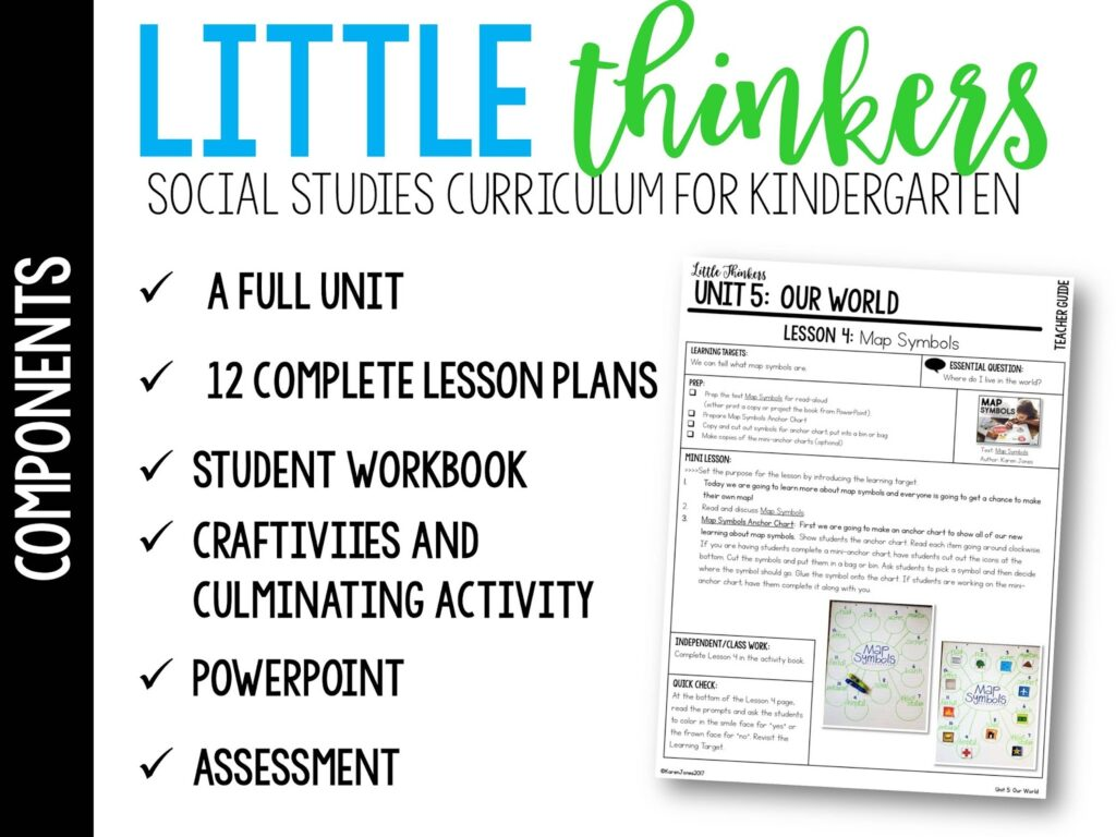 our world unit for kindergarten