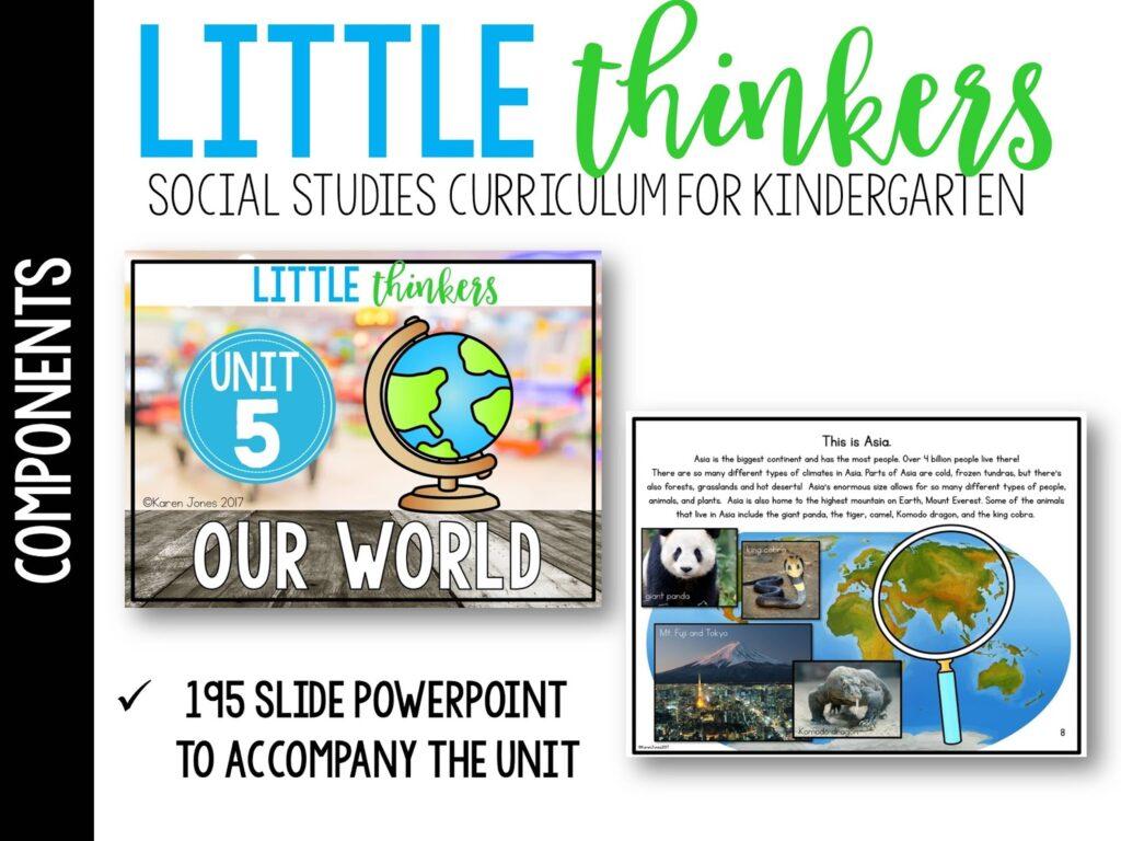 world unit for kindergarten