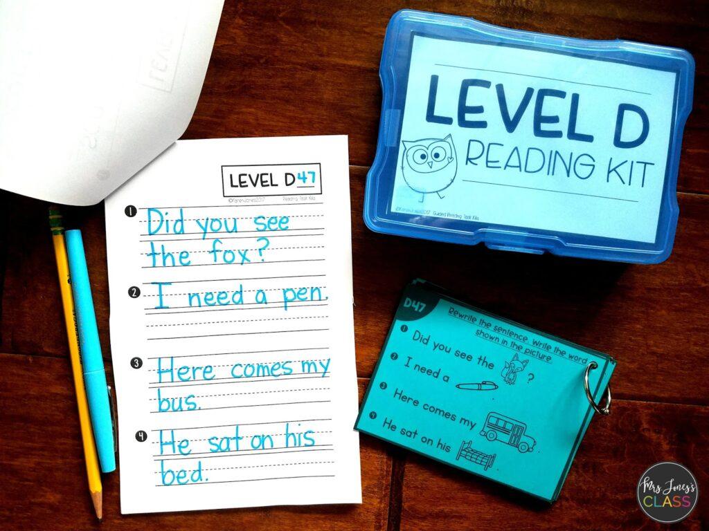guided reading kits kindergarten