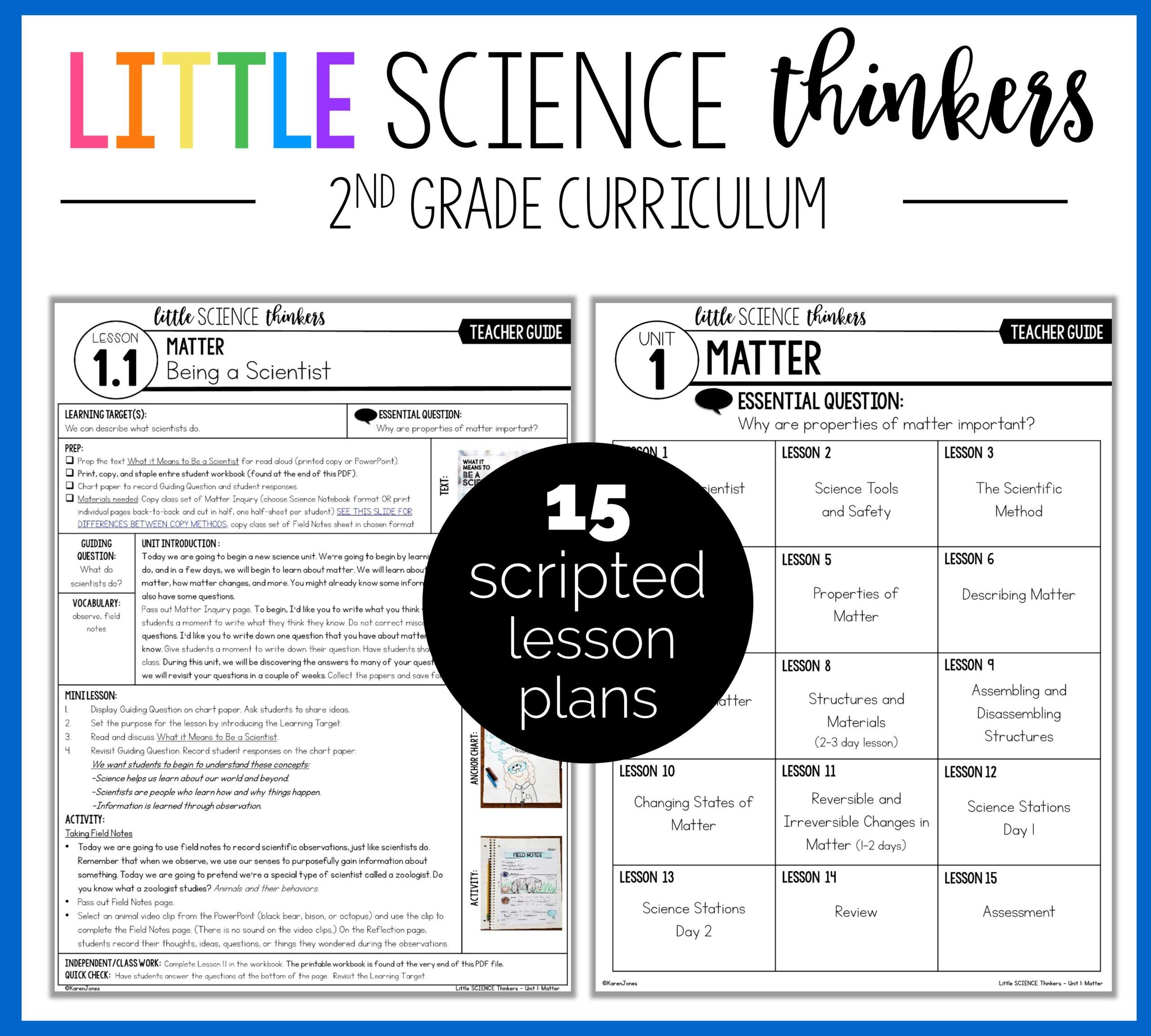 2nd grade science lessonn