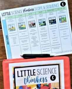Science Scope and Sequence Kindergarten 1st grade